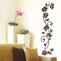Wall Sticker Modern Black Vine Flower Decal Room Bedroom Fridge Home Decoration