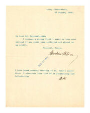 Woodrow Wilson Autographed Letter Signed TWICE - Authentic!