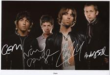 OASIS AUTOGRAPHED SIGNED A4 PP POSTER PHOTO