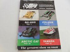 Sno Pro 1977-1978 snowmobile racing program magazine Polaris Arctic Cat Ski-Doo