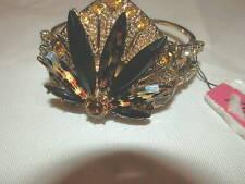 Betsey Johnson Bracelet Gold Black
