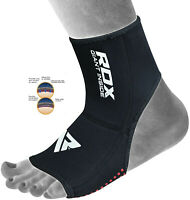 RDX Neoprene Ankle Brace Support Guard MMA Foot Muay Thai Boxing Gym Sport H