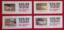 Western Auto Racing 1995 Set of 4 New collectible calling cards NASCAR NHRA RARE