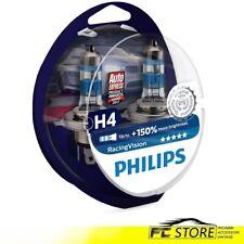 Lámparas Para Faros Coche Philips Racing Vision H4 +150% 12V 60/55W 12342RVS2