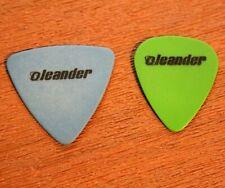 OLEANDER // Tour Guitar Pick Lot of 2 // Blue & Green // Sacramento California