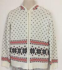 Gymboree Girls Fair Isle Zip Up W/Hood Sweater Size S 5-6 NWT