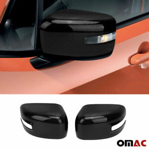 For Jeep Renegade 2015-2021 Genuine Carbon Fiber Mirror Cover Cap 2 Pcs