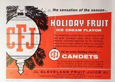 1960 AD(H2)~THE CLEVELAND FRUIT JUICE CO. HUMBOLDT, TENN. ICE CREAM FLAVOR