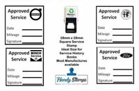 Approved Garage Service Stamp 28mm x 28mm - Self inking
