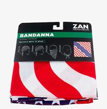 ZAN Headgear Bandana American Flag 100% Cotton ~ New!!