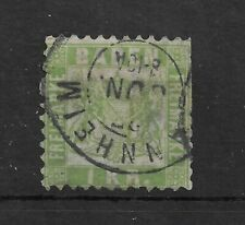 BADEN 1868 1 K.R. Green P10 USED