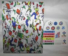 Book Sox Original Boy Print With Stickers/Labels  Book Covers NIP