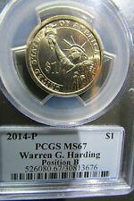 2014-P  Warren G. Harding  PCGS MS67  Position  B