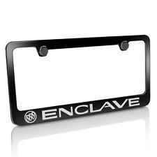Buick Enclave Black Metal License Plate Frame