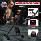 Foldable Stationary Upright Exercise Workout Gym Cycling Bike Indoor Black Home