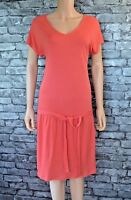 Women's Coral Pink Short Sleeved Maternity & Nursing Dress Size 10 / 12