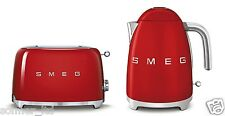 Smeg 50s Retro Style 2 Slice Toaster & Kettle Capacity 1.7 litre Set - Red