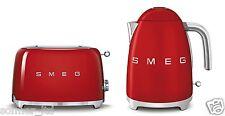 SMEG 50s Retrò Stile 2 Fette & Bollitore Capacità 1.7 LITRI Set-Rosso
