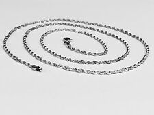 """14kt SOLID WHITE Gold ROPE Pendant link Chain/Necklace 30"""" 2 mm 5.5 grams WRO14"""
