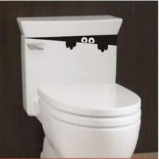 Funny Toilet Monster Bathroom PVC Wall Stickers Decor Decals Home Mural AU SELLS