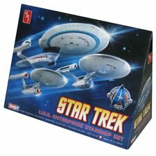 AMT Star Trek USS Enterprise Starship Set - 1:2500 Scale Model Kit - AMT660