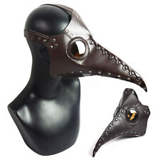 Plague Doctor Bird Cosplay PU Leather Steampunk Punk Mask Gothic Halloween Fancy