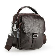 Men Real Leather Fanny Pack Shoulder Bag Sports Running Travel Waist Belt Bag
