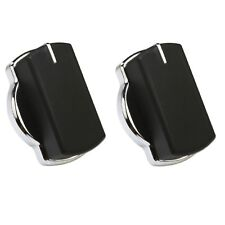 2X Genuine Belling CH60AX 444449504 CH60RX Oven Cooker Control Knob Switch Black