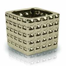 Silver Gold White Black Cube Flower Pot Indoor Garden Ceramic Glossy Pots Gift