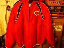 MEN'S LARGE CINCINNATI REDS POLY OXFORD HOODED JACKET NEW WITH TAGS !!