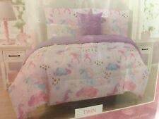9ab3c11f09 Kidz Corner, Twin 3 Piece Unicorn, Rain Cloud Print Comforter Set