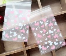 20 Piezas Cookies Adhesivo de embalaje bolsas de plástico para Hornear Boda Snack Pack B012