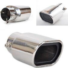 63 mm Argent Nouveau en Acier Inoxydable Voiture Échappement Arrière Astuce Fin Muffler pipe