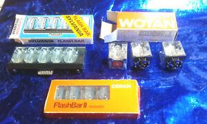 SYLVANIA FLASH BAR / Osram Flashbar / Wotan flashcubes OFC 4 (Würfel Blitze) rar