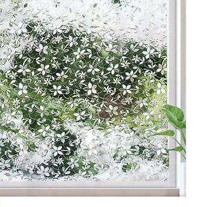 3D Frosted Privacy Window Film UV Rejection Glass Door Decor Sticker Home Room