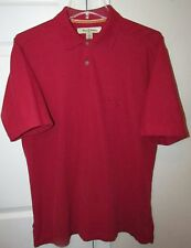 Tommy Bahama Pima Cotton Blend Mens Short Sleeve Polo Golf Shirt Red Medium