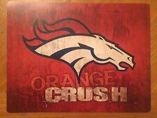 Tin Sign Vintage Denver Broncos Orange Crush NFL