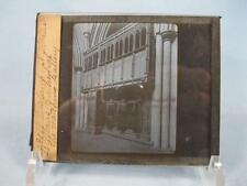 Magic Lantern Glass Slide St Albans Cathedral Church England Watching Gallery O