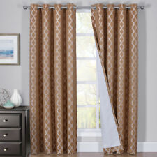 100% Blackout Curtain Rosaline Jacquard Triple Pass Thermal Insulated (Pair)