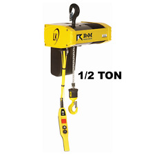 R&M Lk Electric Chain Hoist - 1/2 Ton, 20 Ft Lift, 16/5 Fpm With Top Hook