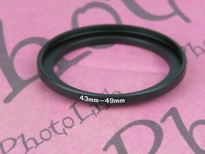43mm to 49mm Stepping Step Up Filter Ring Adapter 43mm-49mm