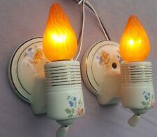 Pair Vintage Porcelier Pull Chain Porcelain Sconces, New Wiring & Hardware