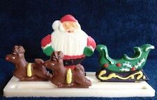 Christmas Santa & Sleigh Stand Up Candy Mold from CK  #4147 - NEW