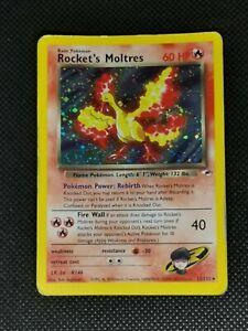 Pokemon Pokémon Karte TCG Rockets Moltres 12/132 Gym Heroes Holo