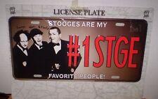 # 1STGE LICENSE PLATE - THREE STOOGES