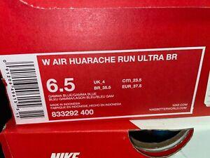 Nike Air Huarache Run Ultra BR Women's 833292-400 Gamma Blue Rare