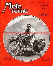 MOTO REVUE 1009 GILERA 250 NETTUNO BENELLI ARIEL Jacques COLLOT 1950