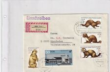 DDR 2677-80,2676 PELZ ILTIS NERZ MARDER POST WILD LIFE BRIEF COVER
