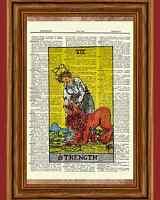 "Tarot Cards /""Death/"" Major Arcana Deck Dictionary Art Print Picture"
