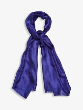 Phase Eight Verity Cobalt Blue Lightweight Scarf Frayed Edging W70 x L180cm BNWT